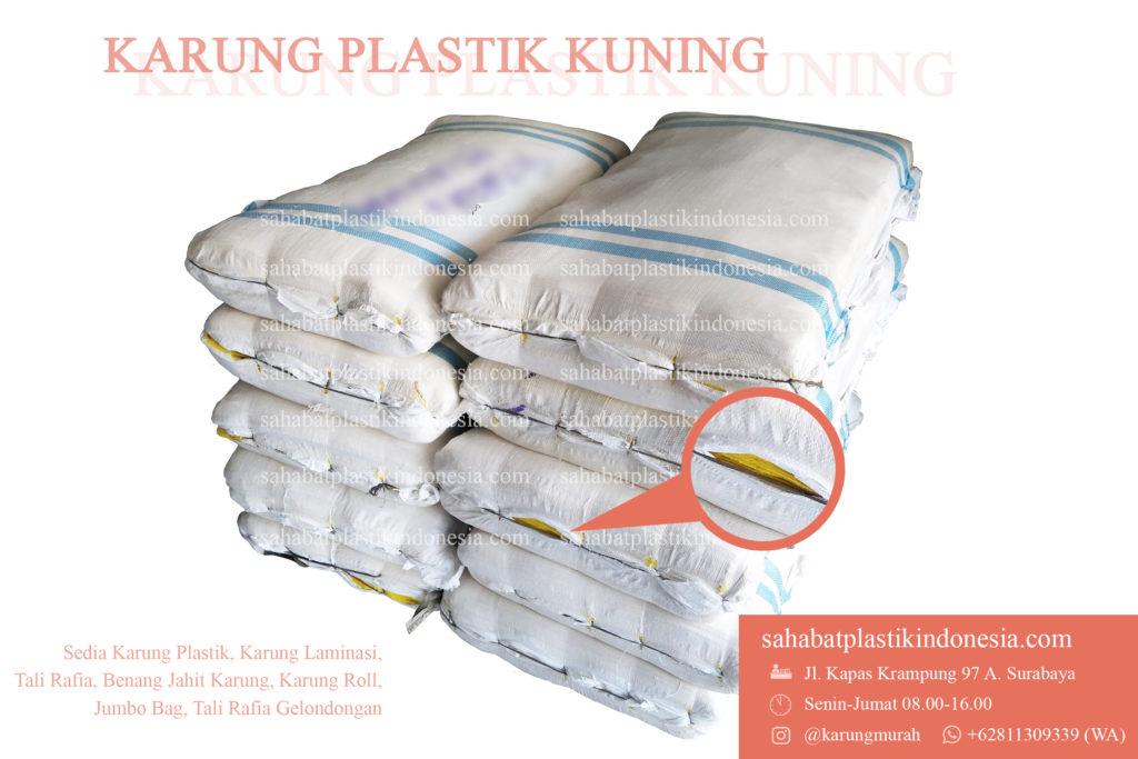 Karung Plastik Kuning, jual karung plastik kuning, grosir karung plastik kuning, distributor karung plastik kuning